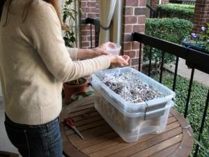 Worm-composting